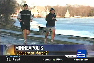 Warm weather video in Minneapolis with record temps