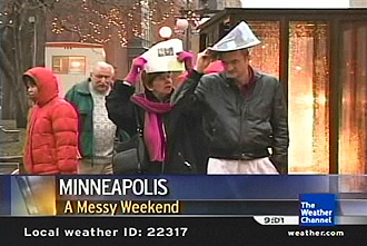 Rain video in St. Paul for the winter carnival